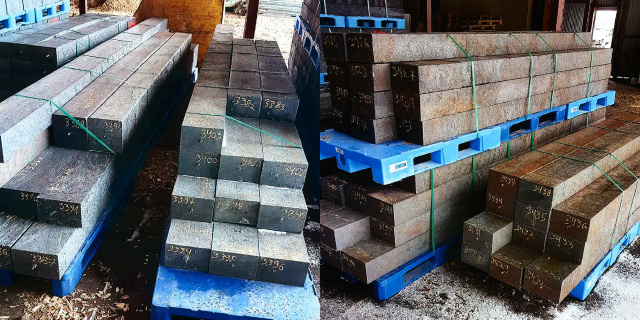 Composite sleepers for delivery to Kiruna mine